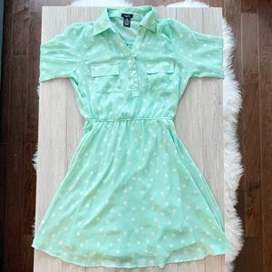RUE 21 Polka Dot Dress - Mint